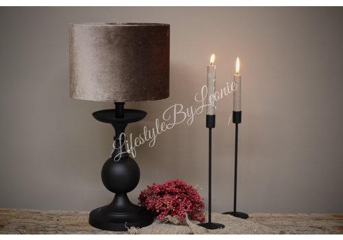 LifestyleByLeonie Sobere mat zwarte tafellamp Bol 32 cm