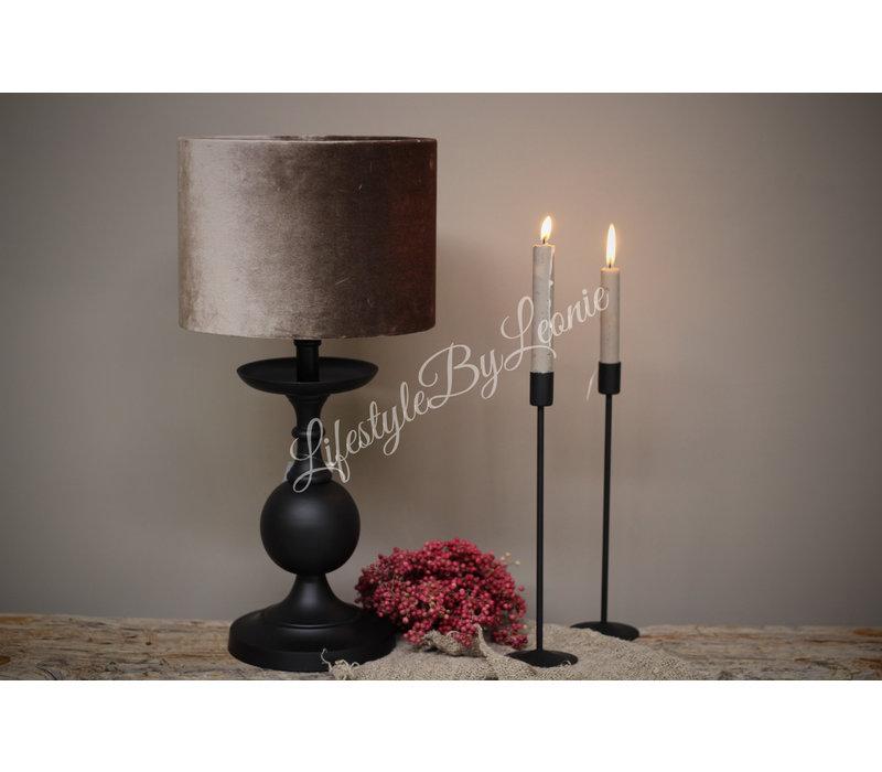 Sobere mat zwarte tafellamp Bol 32 cm
