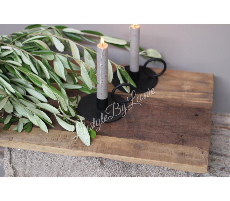 Oud houten tray / dienblad op pootjes 55 cm