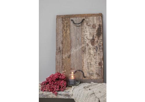 Oud houten railway tray dienblad - maat M