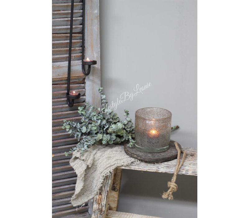 Authentieke houten onderzetter met touw