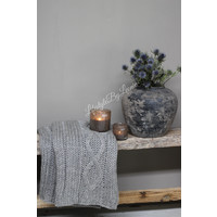 Knitted plaid 'grey'|160cm