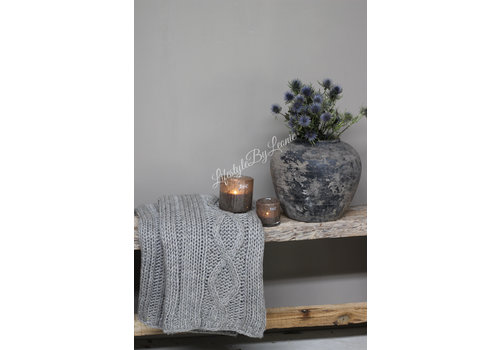 LifestyleByLeonie Knitted plaid Grey 160 cm