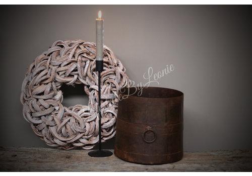 LifestyleByLeonie Oude ijzeren pot met ring|20cmH