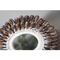 Authentieke schelpen ketting op standaard |Round