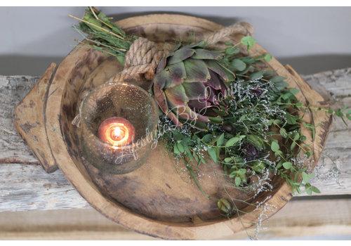 LifestyleByLeonie Authentieke Indiase houten schaal - maat S
