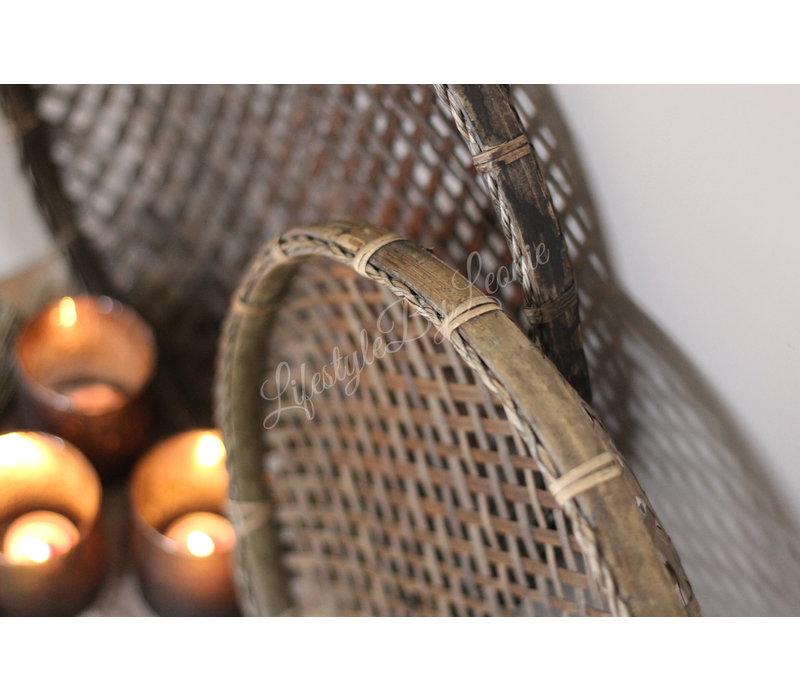 Ronde bamboo mand - maat S