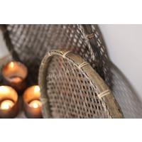 Ronde bamboo mand |M