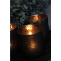 Waxinelichthouder Old black 8 cm
