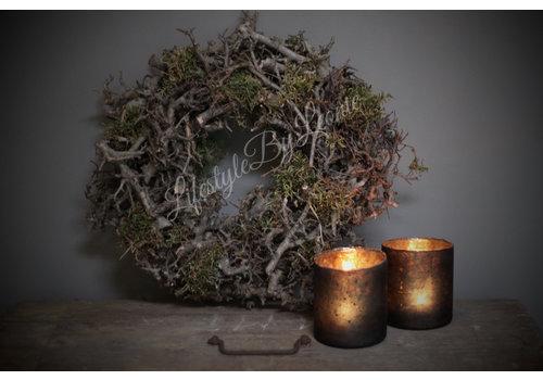 LifestyleByLeonie Krans bonsai / mos 30 cm