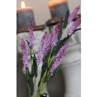 Zijden paarse tak 'Feather' 64cm