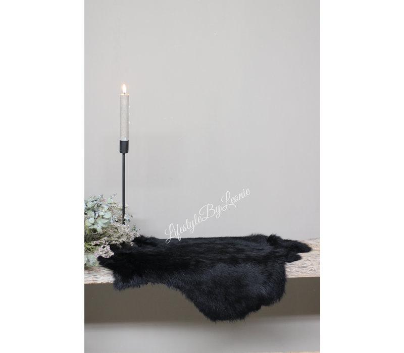 Konijnenvacht zwart