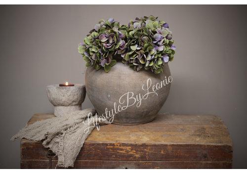 Zijden Hortensia tak Purple/green 40 cm