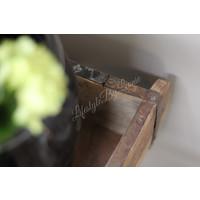 Oude houten steenmal Vierkant 23 cm