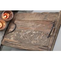 Oud houten railway tray dienblad - maat S