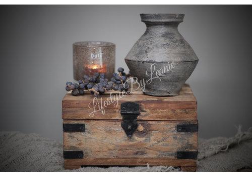 LifestyleByLeonie Oude houten kist Hima - maat S