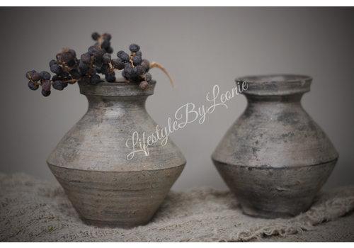 LifestyleByLeonie Stenen halskruik / clay pot - maat S