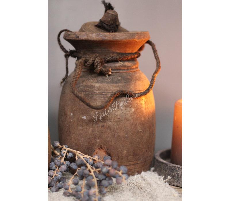 Authentieke Nepalese waterkruik met deksel - maat S