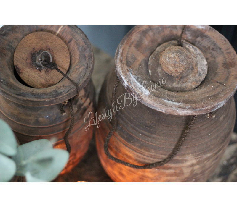 Authentieke Nepalese waterkruik met deksel - maat M