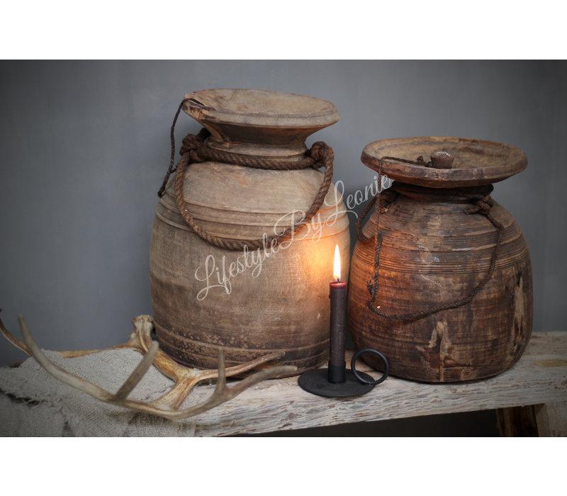 Authentieke Nepalese waterkruik met deksel - maat L