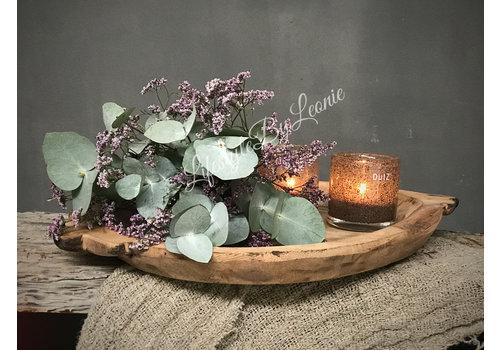 LifestyleByLeonie Toef eucalyptus / roze limonium