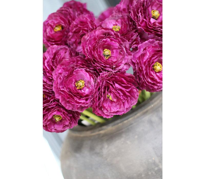 Zijden Ranonkel deep purple 66 cm