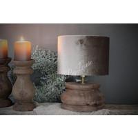 Donker houten baluster lampvoet|