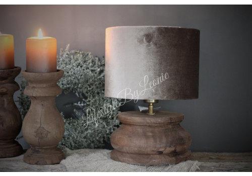 LifestyleByLeonie Houten baluster lampvoet donker