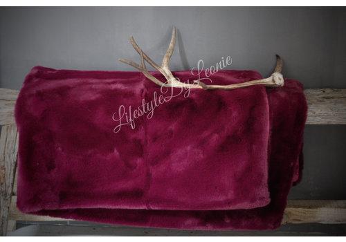 LifestyleByLeonie Bont plaid supersoft Dark purple / Magenta 170 cm
