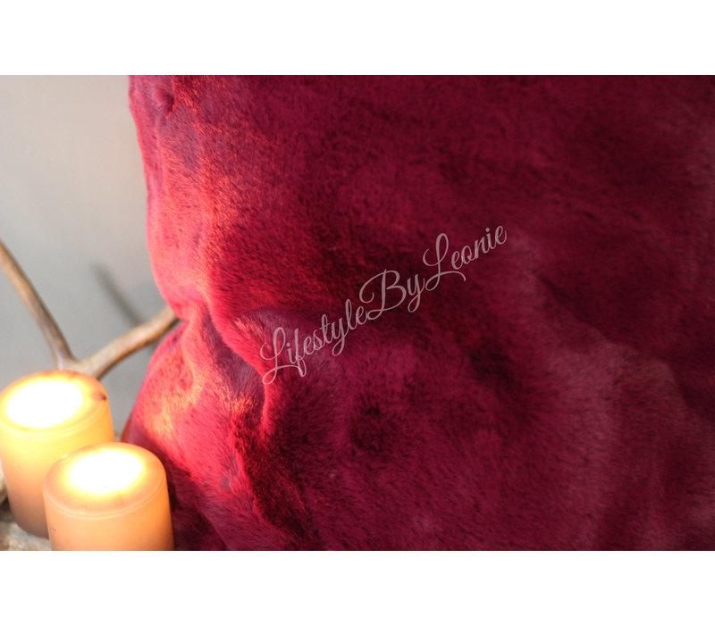 Kussen super soft fake fur 'Magenta'|50cm
