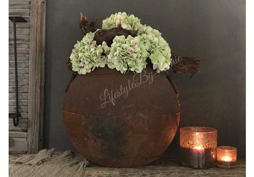 LifestyleByLeonie Zijden Hortensiatak green/pink 40 cm