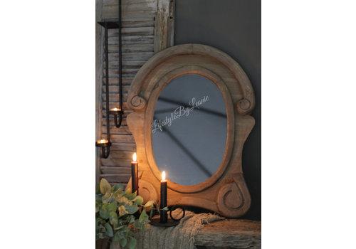 LifestyleByLeonie Ossenoog spiegel Oeil de boeuf Wood