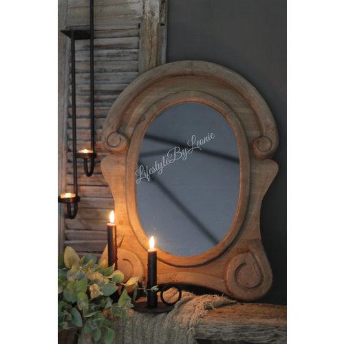Ossenoog spiegel Oeil de boeuf |Wood