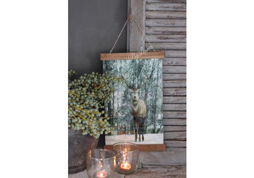 LifestyleByLeonie Wand hanger linnen Hert bos 40 cm