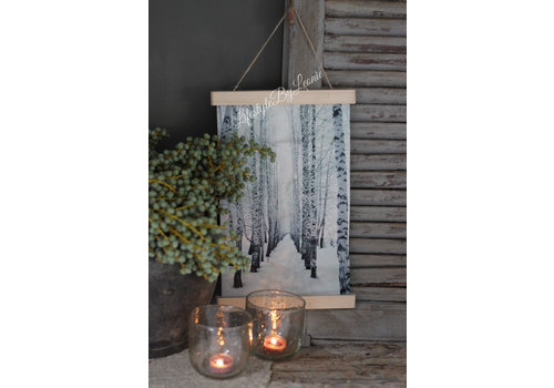 LifestyleByLeonie Wand hanger linnen 'Bos'|40cm