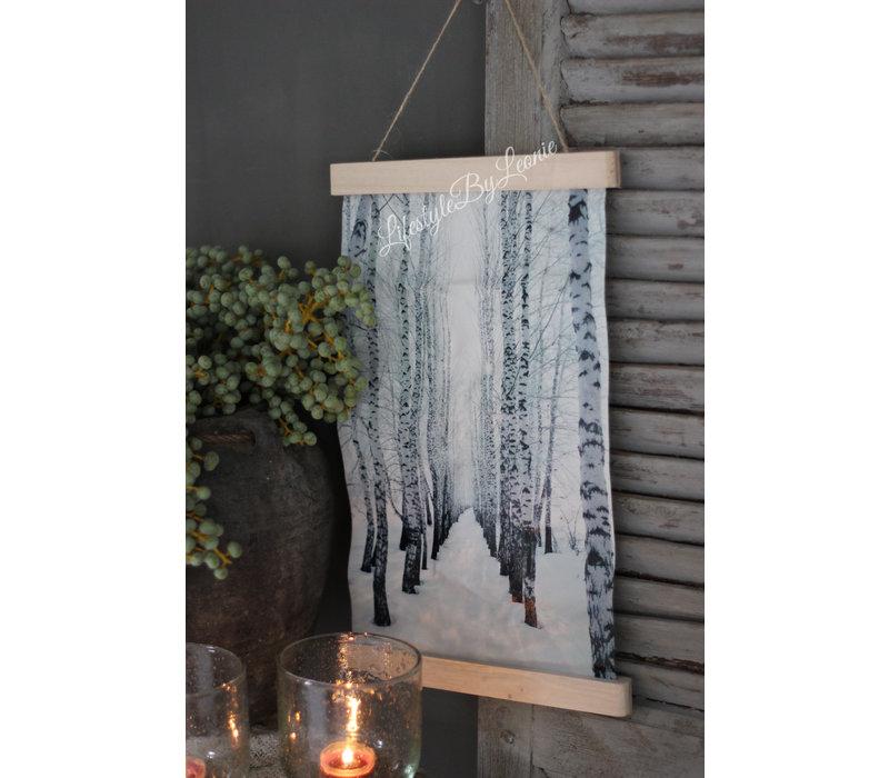 Wandhanger linnen Bos 40 cm
