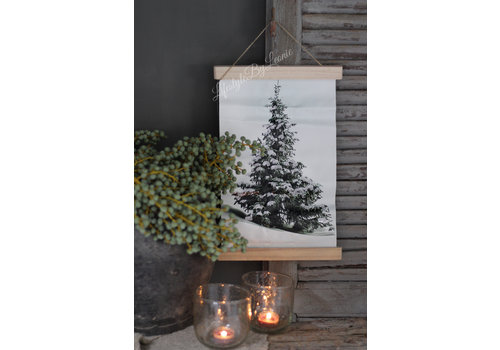 LifestyleByLeonie Wand hanger linnen Tree 40 cm