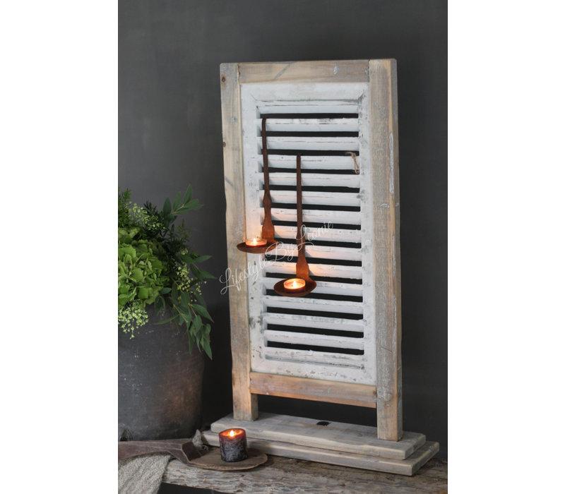 Staande shutter louvre luik Grey 44 x 73 cm