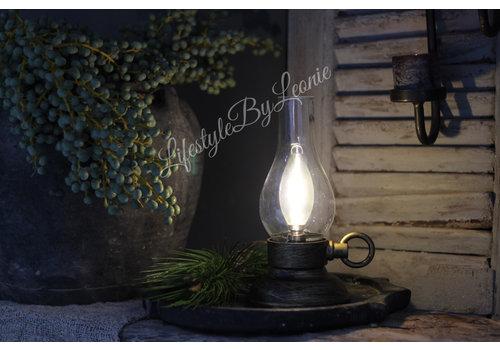 LifestyleByLeonie LED lamp Oil Zwart/bruin