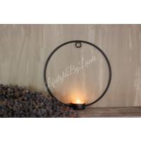 Metalen ring waxine-kandelaar 21 cm