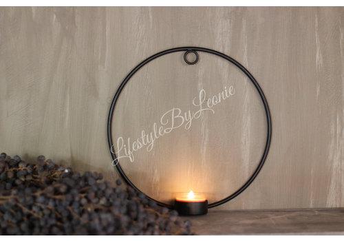 LifestyleByLeonie Metalen ring waxine-kandelaar 21 cm