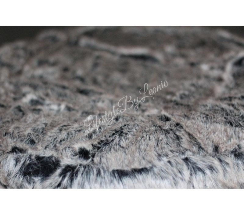 Bont poef Alaska sand 55 cm