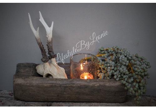 LifestyleByLeonie Namaak reeën skull Bruin 26 cm