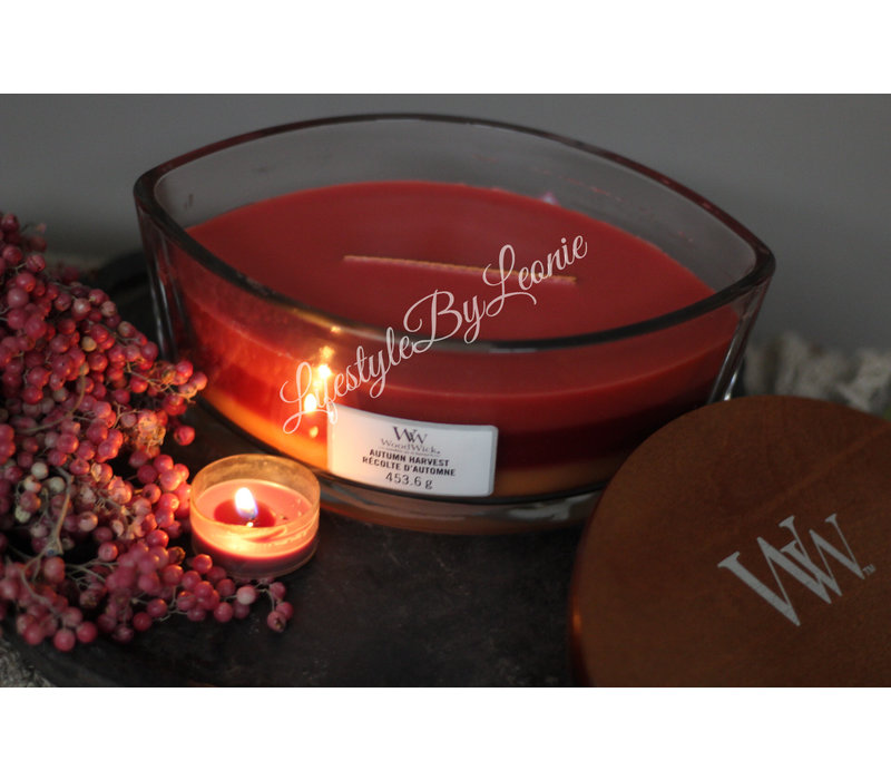 WoodWick Autumn harvest trilogie hearthwick flame