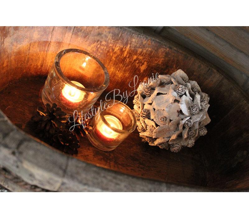 Dennenappel bal Aspen whitewash 13 cm