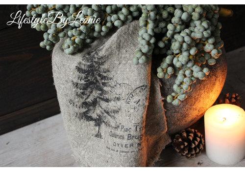 LifestyleByLeonie Shabby linnen doek Tree