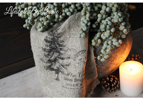 Shabby linnen doek Tree
