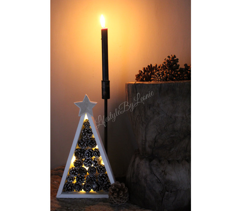 Dennenappel LED boom Beth 30 cm