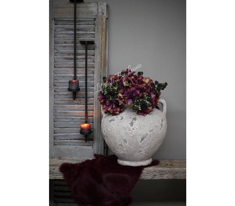 Zijden Hortensia tak Purple 40 cm