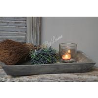 Zijden mini toef dadel/grass 16 cm